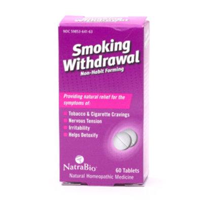 NatraBio Smoking Withdrawl Tablets