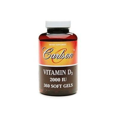 Carlson Vitamin D3 2000 IU, softgels 360 ea