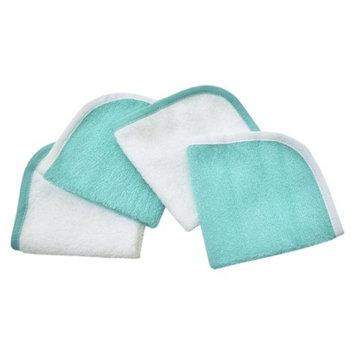 TL Care Organic Wash Cloth 4 Pack - Aqua