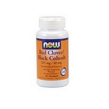 NOW Foods Red Clover / Black Cohosh 225mg/40mg, 60 Vegetarian Capsules