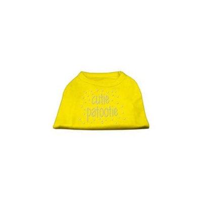 Ahi Cutie Patootie Rhinestone Shirts Yellow Lg (14)