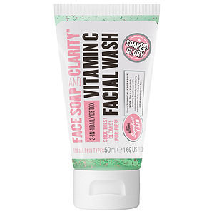 Soap & Glory Face Soap and Clarity 3-in-1 Daily Detox Vitamin C Facial Wash, Refreshing Chamomile & Mint