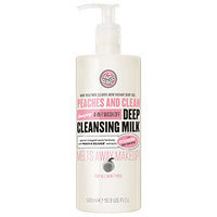 Soap & Glory Peaches & Clean 4-in-1 Wash Off Deep Cleansing Milk, Minty Peach, 16.2 oz