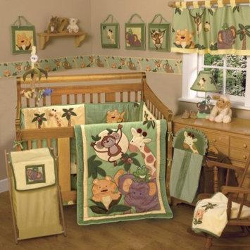 NOJO Jungle Babies 8pc Set - 8 Piece Infant Crib Set