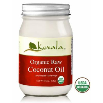 Kevala Organic Raw Coconut Oil 16oz (Pack of 3)