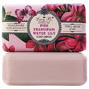 Lucy B Triple Milled Soap, Pink Frangipani, 5.3 oz