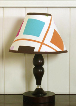 Geenny GEENNY Pink Brown Diamond Lamp Shade Multi-color