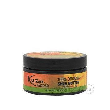 Kuza 100% Organic Shea Butter Skin, Hair, & Scalp, Nails (Mango Tango) 3oz
