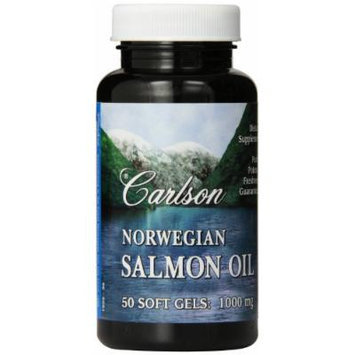Carlson Labs Carlson Laboratories Norwegian Salmon Oil Softgels, 1000 mg, 50 Count