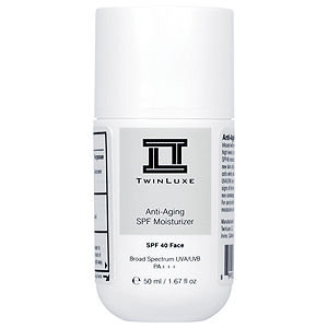 TwinLuxe Anti-Aging SPF 40 Moisturizer, 1.67 oz