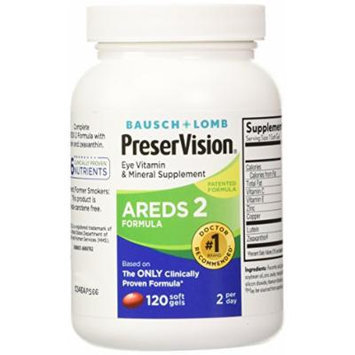 Preservision Areds 2 Vitamin & Mineral Supplement 120 Count Soft Gels ( Pack of 2)