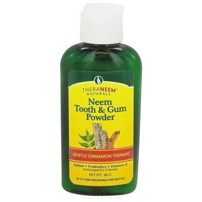 Organix South - TheraNeem Naturals Neem Tooth & Gum Powder Gentle Cinnamon Therape - 40 Grams