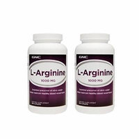 GNC L-Arginine 1000mg 180 Caplets (Two Bottles each of 180 Caplets)