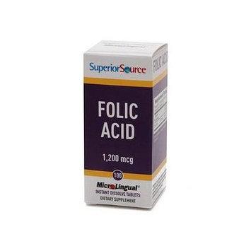 Superior Source Folic Acid 1200mcg - Extra Strength, Disolve Tablets 100 e