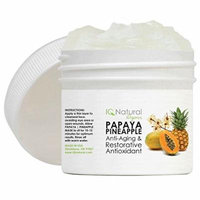 IQ Natural Papaya/Pineapple Mask Anti aging wrinkle reduction 2oz