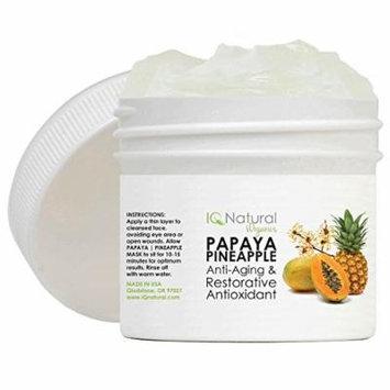 IQ Natural Papaya/Pineapple Mask Anti aging wrinkle reduction 2oz