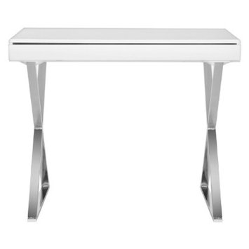 Writing Desk: Safavieh Writing Desk White