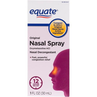 Equate Nasal Spray Original 1 Oz 3-pak Compare to Afrin Oxymetazoline Hydrochloride