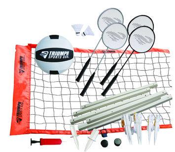 Triumph Sports USA Advanced Volleyball / Badminton Set