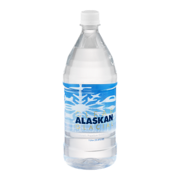 Clear Alaskan Glacial Drinking Water