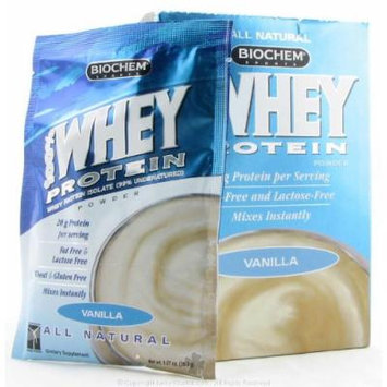 Biochem by Country Life - 100% Whey Protein Powder Packet Vanilla - 1.07 oz.