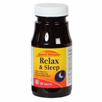 Nature's Measure Relax & Sleep Dietary Supplement. 30 ct. (2 pack)
