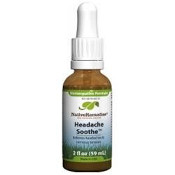 Native Remedies Headache Soothe 2oz Liquid Homeopathic HSO001