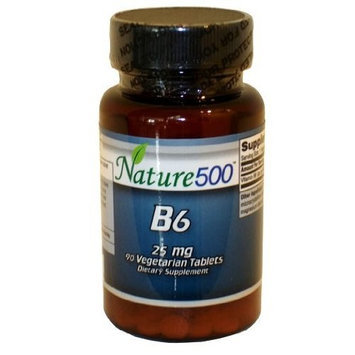Nature500 Vitamin B6 25mg 90 Vegetarian Tablets