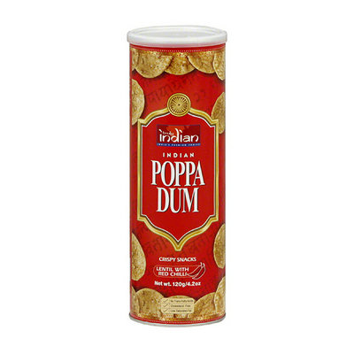 Truly Indian Indian Poppa Dum Lentil Crispy Snacks with Red Chilli