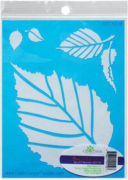 Cedar Canyon Textiles Inc Birch Leaves Stencil Set For Shiva Paintstiks-2/Pkg