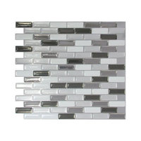 The Smart Tiles Smart Tiles 9-1/8 in. x 10-1/4 in. Multi-Colored Metallic Mosaic Adhesive Decorative Wall Tile (6-Pack) SM1030-6