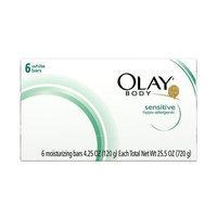 Olay Body White Sensitive Bars Soap 6 Bars 4.25 Oz Pack of 8 (48 Bars Total)