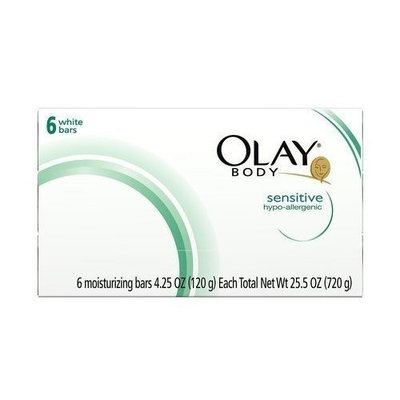 Olay Body Sensitive Hypo Alllergenic White Bars Soap