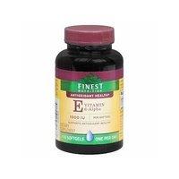 Finest Nutrition E d-Alpha Vitamin 1000 IU Dietary Supplement Softgels 100 Each