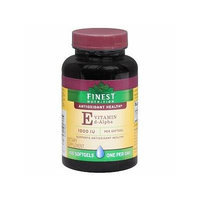 Finest Nutrition E d-Alpha Vitamin 1000 IU Dietary Supplement Softgels 100 Each