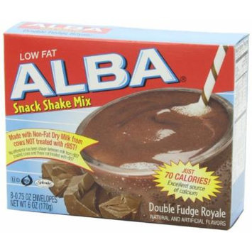 Alba Low Fat Shake Mix Double Fudge Royale