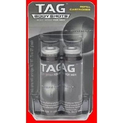 TAG Body Shots, MIDNIGHT, Body Spray For Men, 2 Refill Cartridges, 0.75 oz each