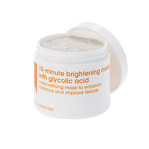 LATHER 10-minute Brightening Mask with Glycolic Acid, 4 oz
