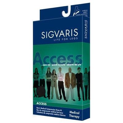 Sigvaris 970 Access Series 30-40 mmHg Women's Closed Toe Knee High Sock Size: Medium Short (MS)