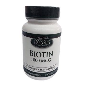 Windmill Vitamins Biotin 1000 Mcg Tablets By Food Plus - 60 Ea