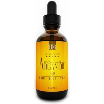 Premium 100% Pure Organic Moroccan Argan Oil. Hair & Skin Treatment 4oz/118ml. TRIPLE Extra Virgin Grade. FAST ABSORBING. Certified Organic EcoCert & USDA. Cold Pressed Oil. For Dry Scalp, Nails, Cuticles. Excellent Daily Moisturizer. Guaranteed...