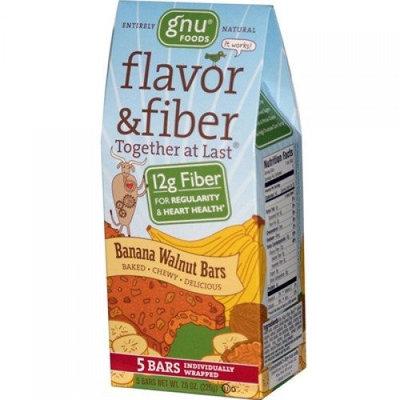 437582-Gnu Foods Flavor and Fiber Bars Banana Walnut - 5 Bars - Case of 8