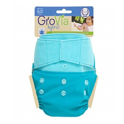 GroVia Hybrid Hook/Loop Shell Diaper, Surf, One Size (Discontinued by Manufacturer)
