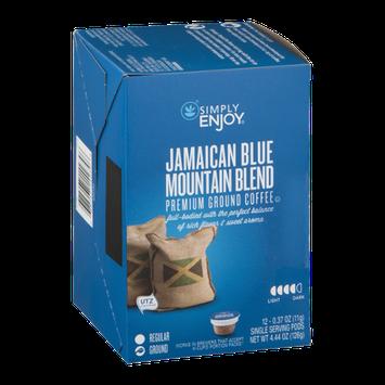 Simply Enjoy Premium Ground Coffee Single Serving Pods Jamaican Blue Mountain Blend - 12 CT