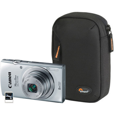 Canon Silver PowerShot ELPH 135 9153B001-3A-KIT Digital Camera with 16 Megapixels and 8x Optical Zoom
