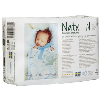 Naty by Nature babycare Eco-Diapers, Newborn, 1 ea