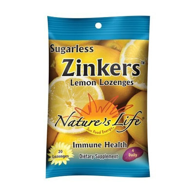Nature's Life Zinkers, Lemon, 20 Count (Pack of 3)
