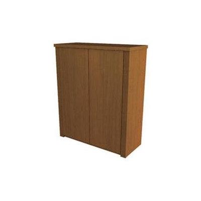 Bestar Prestige + Two Door Cabinet in Cognac Cherry