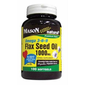 Mason Vitamins Flax Seed Oil 1000Mg (Omega 3-6-9 Linaza) Softgels 100 CT