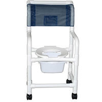 MJM International 118-3TW-SQ-PAIL Shower Chair 18 in.